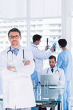 Doctors at work in medical office Stock Image