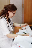 Doctors works Stock Photography
