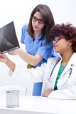 Doctors with xray Stock Image