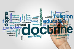 Doctrine word cloud Stock Image