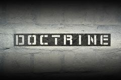 Doctrine word gr Royalty Free Stock Photography