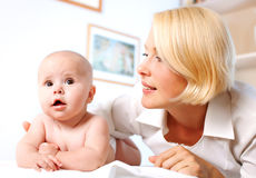 Doctror pediatrician and baby Royalty Free Stock Photography