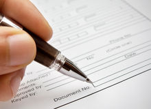 Document. Signing the contract Stock Photography