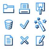 Document 2 icons Stock Photos