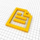 Document 3d icon Stock Photo
