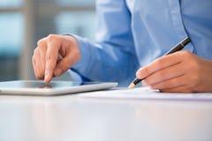 Document analysis Stock Photo