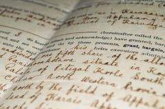 Document antique Image libre de droits