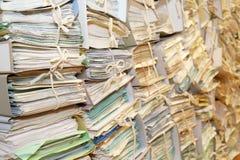 Document archief royalty-vrije stock afbeeldingen