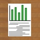 Document avec le diagramm illustration stock