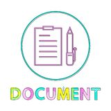 Document avec Pen Set Icon Vector Illustration illustration de vecteur