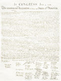 Document Background. Faded American Declaration of Independence for use as a background Royalty Free Stock Photography