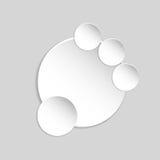 Document banner op cirkel abstracte achtergrond Stock Fotografie