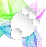 Document banner op cirkel abstracte achtergrond Stock Foto's