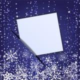 Document in bijlage van een banner van Kerstmis. eps 10 Stock Afbeeldingen
