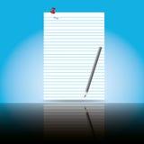 document blad en schaduw Stock Afbeeldingen