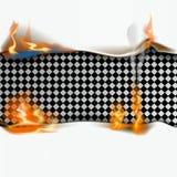 Document blad op brand Vlammend document blad Vector illustratie vector illustratie