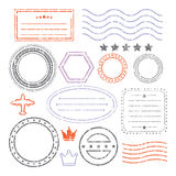 Document And Blank Grunge Stamps Set. Document And Blank Grunge Style Stamps Set royalty free illustration