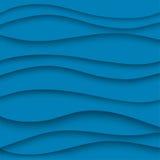 Document, blauw, golflijnen vector illustratie