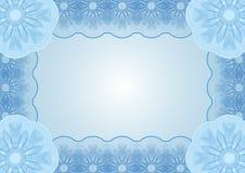 Document blauwe achtergrond Royalty-vrije Stock Foto's