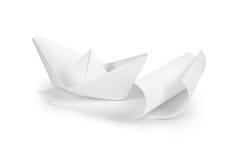 Document boot op document golven, royalty-vrije illustratie