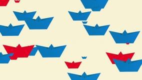 Document boten in blauwe en rode kleuren op wit royalty-vrije illustratie