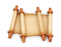 Document Broodjes van oude die rollen op witte achtergrond worden geïsoleerd 3d Royalty-vrije Stock Afbeelding