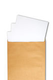 Document in brown develop Stock Images