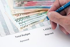 Document budget Stock Photo