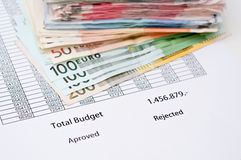 Document budget Royalty Free Stock Image