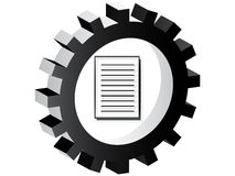 Document button Royalty Free Stock Photography