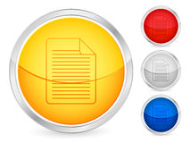 Document button. Document internet button set. Vector illustration Royalty Free Stock Image