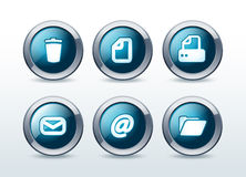 Document button icon set  illustration. Isolated on background Royalty Free Stock Photo