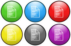 Document button icons Stock Photography