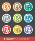 Document buttons,vector Royalty Free Stock Photos