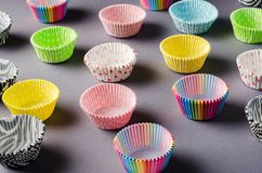 Document capsules voor capcake stock afbeeldingen