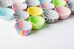 Document capsules voor capcake royalty-vrije stock foto's