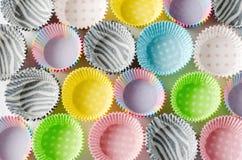 Document capsules voor capcake royalty-vrije stock afbeeldingen
