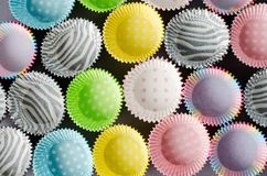 Document capsules voor capcake royalty-vrije stock afbeelding