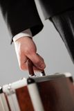 Document case in businessman hands Stock Photo