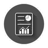 Document with chart symbol. Royalty Free Stock Image