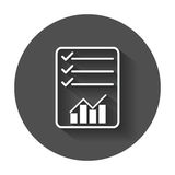 Document with chart symbol. Stock Photo
