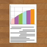Document chart vector. Infographic analytics and economy chart business illustration Stock Images