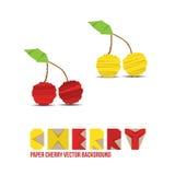 Document Cherry Background Royalty-vrije Stock Afbeelding