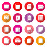 Document Circle Color Icons Royalty Free Stock Photography