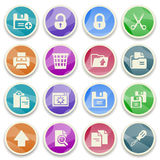 Document color icons. Royalty Free Stock Images