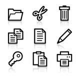 Document contour web icons Royalty Free Stock Photo