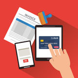 Document credit card tablet Stock Photography