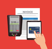 Document credit card tablet Royalty Free Stock Photography