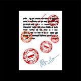 Document d'échec avec le timbre rouge joint en caoutchouc carré rejeté Vec illustration stock