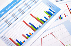 Document d'entreprise données de finances Image libre de droits